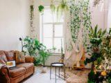 Flot stue med massere af planter